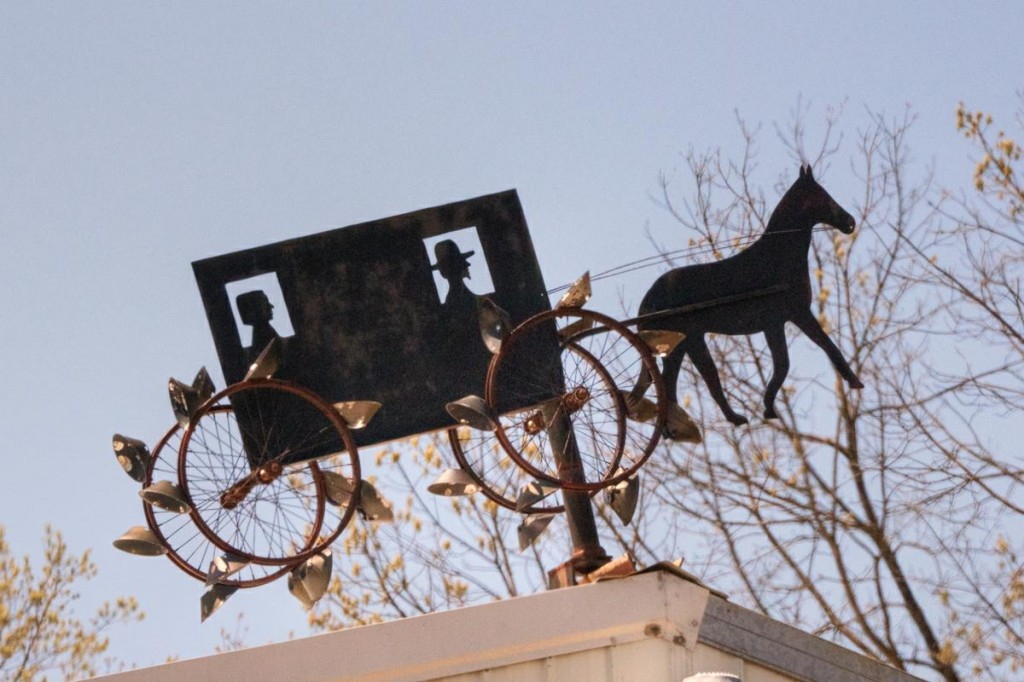 Amish Buggy Whirligig Weathervane