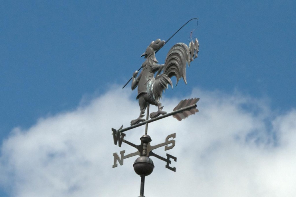 Rooster Gone Fishing Weathervane