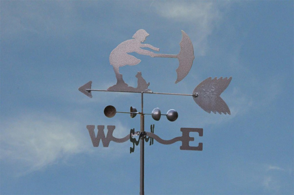 Girl With Umbrella Weathervane
