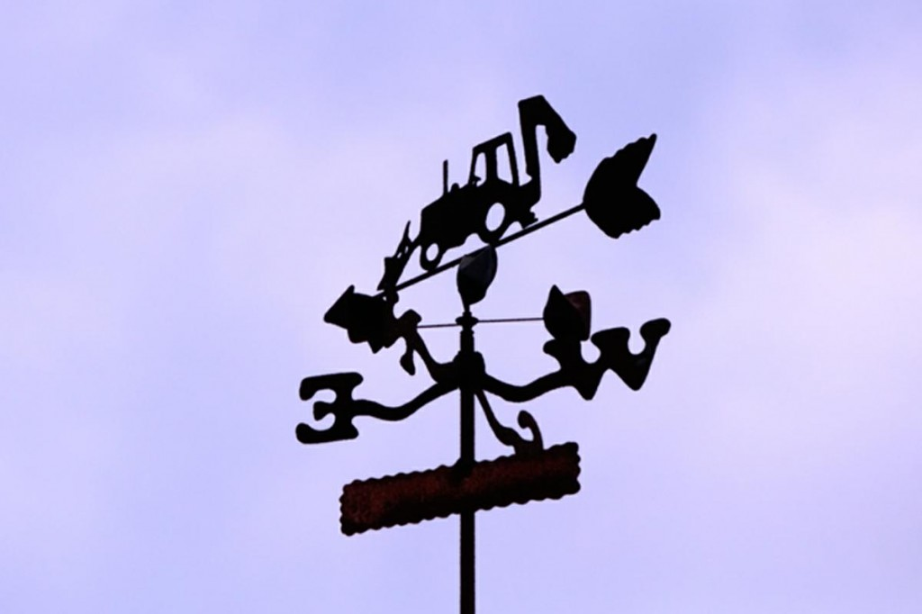 Backhoe Weathervane
